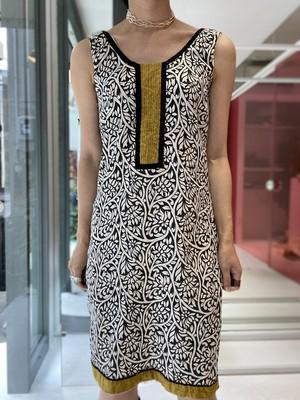 botanical print India tight dress