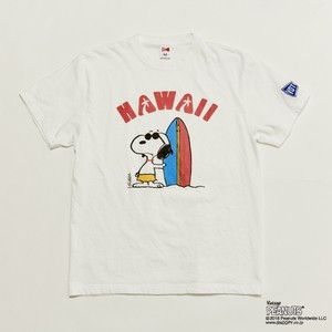 """SNOOPY HAWAII "" TEE - WHT"
