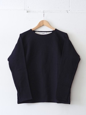 FUJITO L/S Boatneck Shirt Navy,White