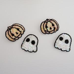 Happy Halloween!カボチャとオバケのブローチセット
