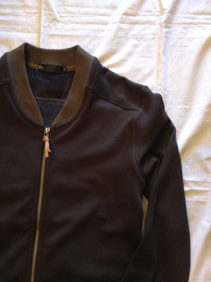 Raised Fabric Warm Zip Blouson(Re made in tokyo japan)
