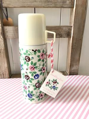 イギリス花柄カップ付き水筒♪