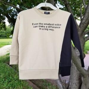 【イレギュラー切り替え】バイカラー ビッグシルエット Tシャツ90803【ベージュ】
