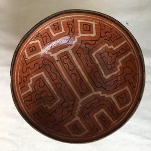 アマゾン・シピボ族の伝統工芸 焼きもの 器4直径 18cm