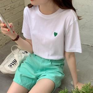 ツートンカラーレタープリントTシャツ S4288