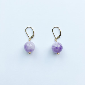 GLOBE Earrings|Lavender Amethyst