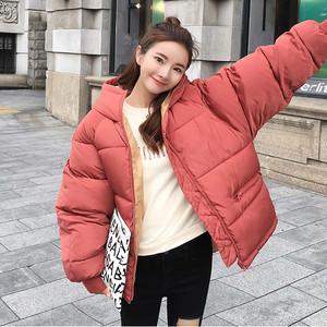 【アウター】ゆったり若見え厚め暖かい韓国系フード付きダウンコート