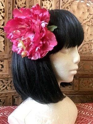 Flower hair ornament-Romantic pink