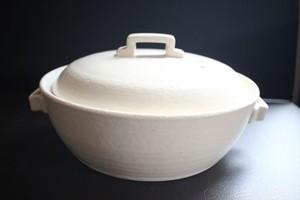 三鈴陶器|スタイル鍋8号 白