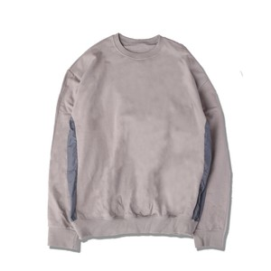 SIDE PANEL SWEAT PULLOVER / GRAY