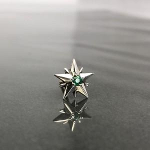 10P STAR STUD with EMERALD / 10ピークス スターピアス・エメラルド
