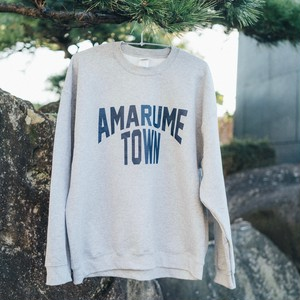 AMARUME TOWN  Sweatshirt GRAY×NAVY BLUE