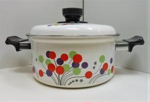ホーロー製の両手鍋【風船/20】(0902202S100)