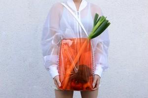 """proef """"PVC shoulder bag""""[orange]"""