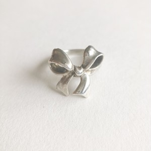 silver 925 bow ring #8[r-129]