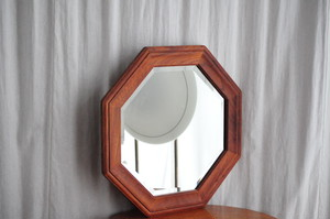 Teak Octagon Mirror