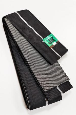JUNKO KOSHINO艶縞角帯 メンズ ポリエステル100% ブラック
