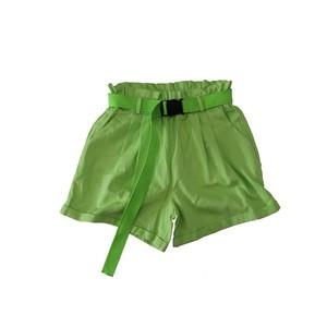 (レディース)(ベルト付き)Neon Green Short Pants グリーン ショートパンツ M NT0801ZG