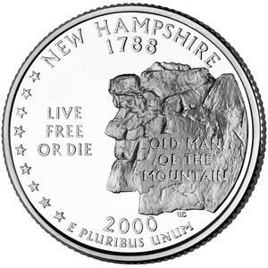 アメリカ50州コインシリーズ ニューハンプシャー  2000-S PR69DCAM