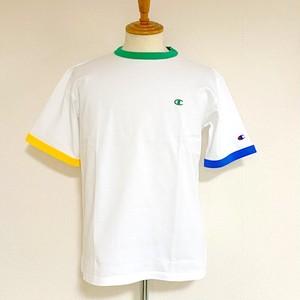 Ringer Short Sleeve T-shirts White × Green