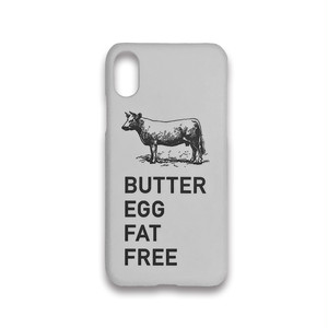 BUTTER EGG FAT FREE iPhoneケース