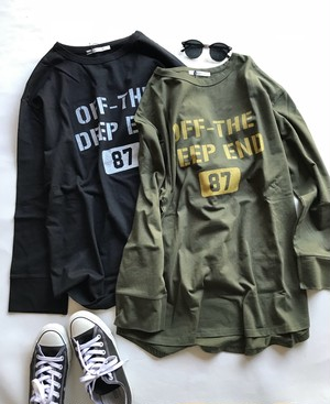 """""""OFF THE DEEP END""""ロングTシャツ"""