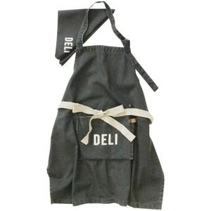 アンドパッカブル エプロン 三角巾セット 子供用 約70×68cm 黒デリ ブラック 89639