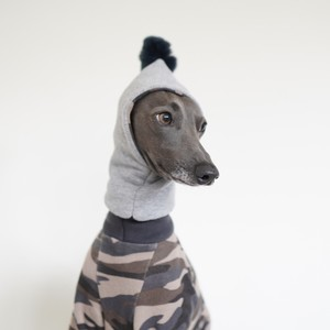 "reversible hood warmer ""camouflage×sweat"""