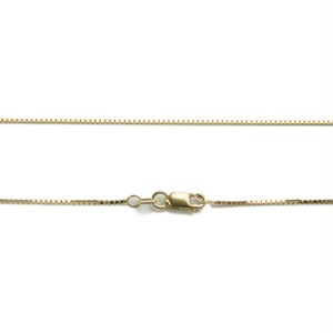 "14K 1mm 18"" Box Chain(18インチ)"