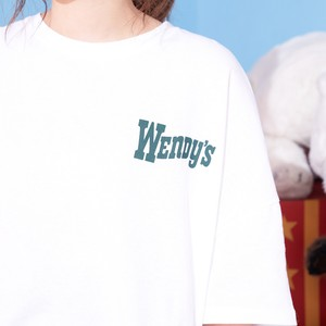 ホワイト ドロップショルダー Tシャツ (wendy's) 【古川優香 select】