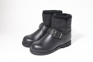 knit rib engineer boots(black)