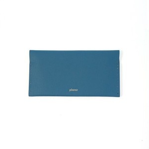 Wallet L -Blue Plain-