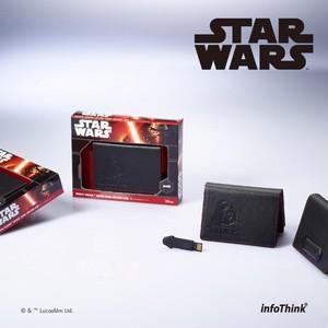 InfoThink USBメモリ Lucasfilm スター・ウォーズ/フォースの覚醒 USBフラッシュドライブ 16GB USB2.0 名刺ケース付 ダースベイダー IT-USB-100(DV)16GB