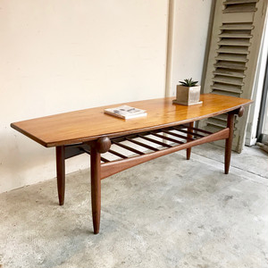 Reversible Top Teak Wood Coffee Table 1960's デンマーク
