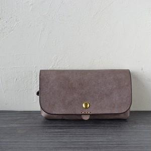 ふっくらぽってり長財布「テヘペロ・グレー」