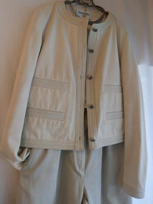 CHANEL Collarless stitch Jacket