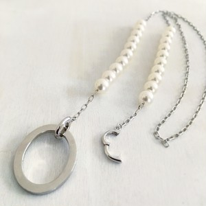 Glass Necklace Japanese Akoya Pearl