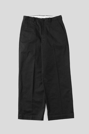 UNIVERSAL PRODUCTS / NO TUCK WIDE CHINO TROUSERS