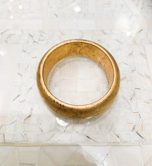 ポプラに金箔のバングル(30mm 幅)婦人公論掲載品