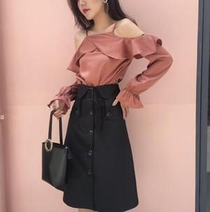 予約  High waist skirt
