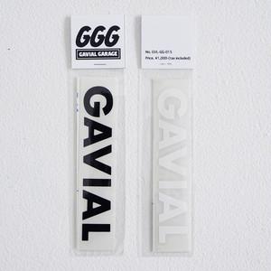 "1月下旬〜2月上旬入荷予定 CUTTING STICKER  ""GAVIAL""(BLACK + WHITE) / GAVIAL"