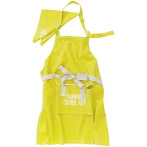 アンドパッカブル エプロン 三角巾セット 子供用 約70×68cm 黄 サニーサイドアップ イエロー 89608
