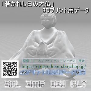 「若かれし日の大仏」3Dプリント用データ