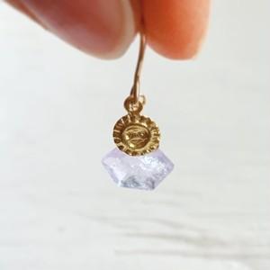 Lavender amethyst pentagon earring