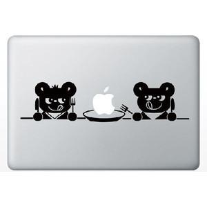 MacBook Air/Pro 13インチ用背面デザインステッカー「2匹のくま」