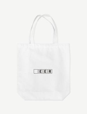 【□EER】トートバッグ(ホワイト)