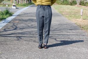 ohta dobby wool slacks (dobby / size:W2) [pt-15D]