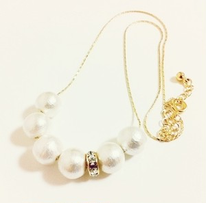 Cottonpearlnecklace
