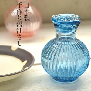 菊型 / 昔なつかし手作り醤油さし / ブルー