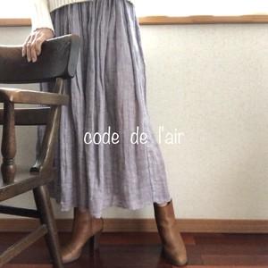 ふんわりサラサラ贅沢リネンのスカート:ラベンダー